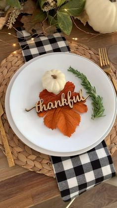 Thanksgiving Place Setting Card Thanksgiving Table Decor | Etsy