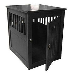 Indoor Furniture Dog Crate Table -black Amish made