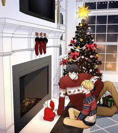 The Best Christmas In The World For This Beautiful Family 😊😍😊😍❤️❤️ Psdt: I wish you a . Manga Anime, Fanarts Anime, Otaku Anime, Anime Guys, Bl Comics, Comics Love, Manhwa, Anime Bebe, Hiro Big Hero 6