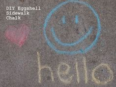 how to make sidewalk chalk with eggshells