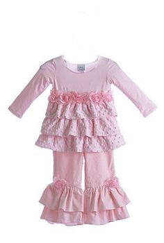 Haute Baby Fall 2011Perfect in Pink Ruffle Pant SetSize 2T only!