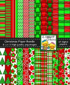 Add some festive cheer to your products with our Christmas background paper bundle! 24 colourful, as well as, vibrant PNG file backgrounds are included in this set! Once purchased, backgrounds can be used for personal or commercial purposes. Kindly remember to include a link back to our TPT store: http://www.teacherspayteachers.com/Store/2-Smart-Chicks Happy creating!