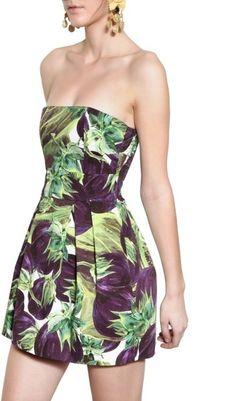 Dolce & Gabbana Aubergine Print Cotton Drill Dress. unusual, but I love it.