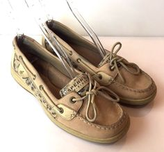 085f01c421a Womens Sperry Top Sider Cheetah Loafers Shoes Size 9.5 Shoes   SperryTopSider  BoatShoes