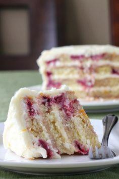 #Dessert / Meyer Lemon Iced Raspberry Yogurt Cake