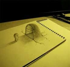 Creative Drawing drawings on paper Amazing Drawings, Realistic Drawings, Cool Drawings, Amazing Art, 3d Pencil Art, 3d Pencil Drawings, Illusion Drawings, Illusion Art, Grafic Design