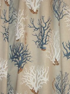 Mediterranean Blue Coral Shower Curtain