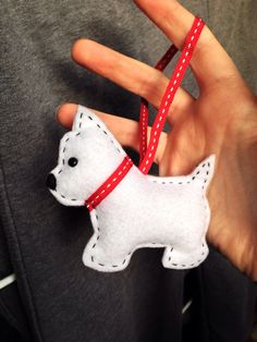 Felt Westie using template from Penny Sanford Fikes.
