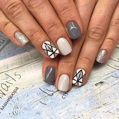 Смотрите это фото от @ilike_nails на Instagram • Отметки «Нравится»: 1,049 Winter Nails, Nailart, Cool Designs, Glitter, Nail Ideas, Beauty, Elegant, Makeup, Drawings