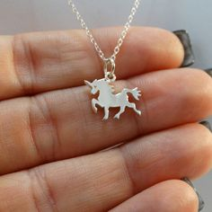 925 Sterling Silver Tiny Unicorn Necklace