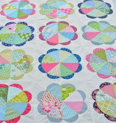 Hyacinth Quilt Designs: Gathering Flowers Quilt finish
