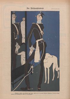 Bruno Paul, aus dem Simplicissimus. Um 1904.