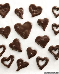 Decorate your sweet treats with these cute heart-shaped chocolate garnishes