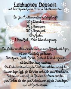 Das perfekte Dessert für Heilig Abend: Lebkuchen Dessert mit Mascarpone-Quark Creme & Schattenmorellen | Rezept | recipe | christmas Dessert | waseigenes.com Blog