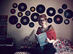 Vinyl record wall decor
