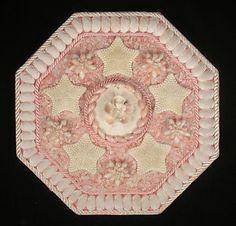 Seashell Art SAILORS VALENTINE Octagon Shell Mosaic - Pink & White Shells