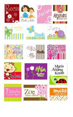 tarjetas-para-niñas Etiquetas Escolares Para Niño 60bbb3a438776