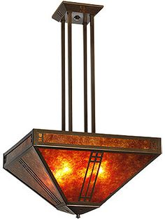 Vintage Lighting. Prairie Pendant Chandelier In Bronze Finish