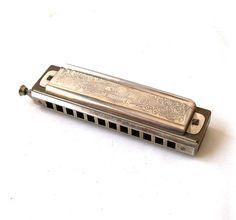 vintage m hohner harmonica super chromonica by RecycleBuyVintage, $60.00
