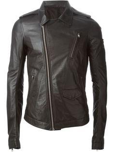 Rick Owens Plinth AW13 Black Stooges Biker Jacket Size S IT 48 GB 38 US 38