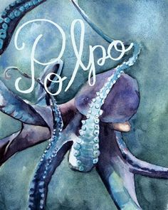 "Today's word is: Polpo ""octopus""   www.theillustrazioneproject.com"