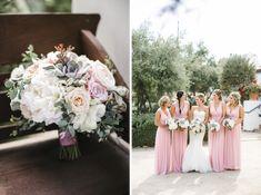 Ojai Valley Inn Wedding | Josh Elliott Photography | Sugar Branch Events | Little Hill Floral Design #pinkbridesmaiddresses #ojaiwedding