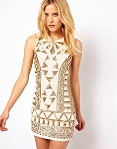 Needle & Thread Sunstone Mini Dress.. White and sparkly, I'm obsessed #summer