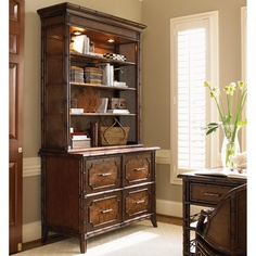 Bal Harbor Laguana Beach File Chest & Deck in Sienna Rosewood #bookcase #office #homeoffice #tropical #storage #beachhouse #lakehouse #homedecor #interiors #interiordesign