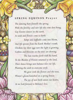 Spring Equinox prayer