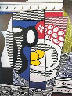 Visit us to license this and other works by Roy Lichtenstein. © Estate of Roy Lichtenstein/DACS/Artimage 2020 Roy Lichtenstein Pop Art, Art Pop, James Rosenquist, Industrial Paintings, Still Life Artists, Still Life Fruit, Jasper Johns, Art Design, Canvas Artwork