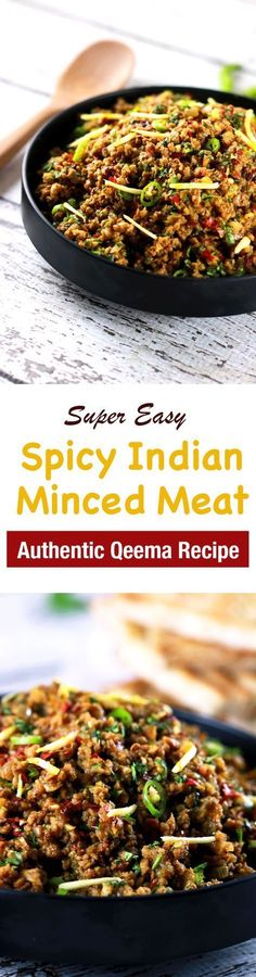 This CLASSIC authentic Indian minced meat Qeema recipe is so delicious, it'll become a regular at your house!! | ScrambledChefs.com #IndianFoodRecipesAuthentic