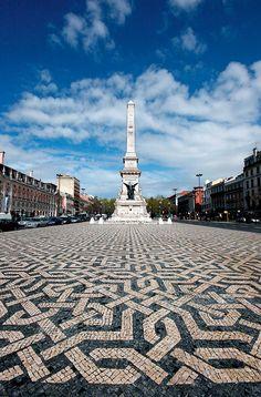 As calçadas mais belas do mundo. Praça dos Restauradores Lisboa (Foto: Getty Images / Flickr RF)