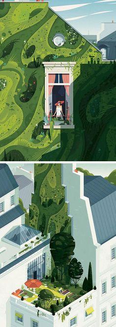 Urban Landscape Essay only Urban Landscape Novel half Modern Irish Landscape Art Irish Landscape, Urban Landscape, Landscape Art, Landscape Design, Landscape Materials, Illustration Sketches, Digital Illustration, Graphic Illustration, Indian Illustration