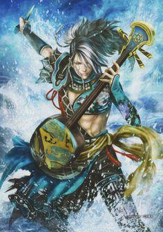 Samurai Warriors 4 Characters, Dnd Characters, Fantasy Characters, Fictional Characters, Dynasty Warriors, Warriors Game, Fantasy Warrior, Anime Warrior, Fantasy Art