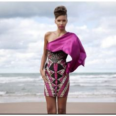 pink and black African dress African Dresses For Women, African Attire, African Wear, African Fashion Dresses, African Women, African Style, Ankara Fashion, Style Couture, Couture Fashion