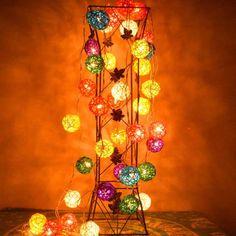Ac 110 V - 250 V 5 cm multi colorido cane rattan bola de fadas led luz cordas 2.5 m lengthoutdoor decoração de natal(China (Mainland))