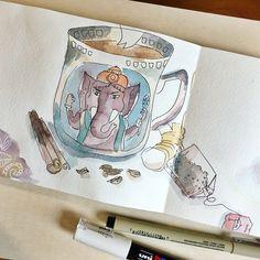 Carnet de croquis - Camille R. #aquarelle #watercolor #sketchbook #carnetdecroquis