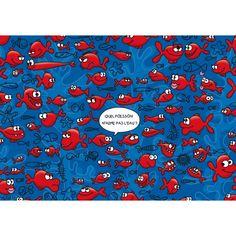 """Lali postcard game """"Quel poisson n'aime pas l'eau ?"""""""