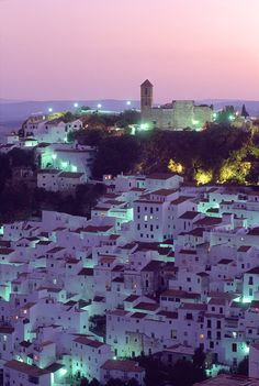 Twilight in Casares, Spain
