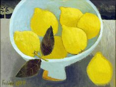 Mary Fedden - Lemons - love her work, takes me back to the days at college at…