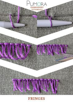 Pumora's lexicon of embroidery stitches: fringes