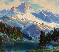 View Sunlight on Sierra slopes by William Henry Price on artnet. Browse upcoming and past auction lots by William Henry Price. Fantasy Landscape, Landscape Art, Landscape Paintings, Simple Oil Painting, Painting Snow, Mountain Art, Mountain Landscape, Watercolor Landscape, Watercolor Paintings