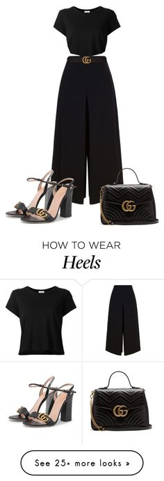 """Untitled #961"" by lulubelle1972 on Polyvore featuring RE/DONE, Diane Von Furstenberg, Gucci and gucci"