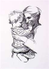 Kathe Kollwitz a rare piece without sadness and depressive air.  K.W