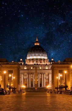 Massirock.: Holy night  rome , vatican , night.