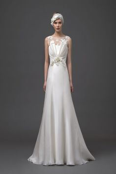 Alberta Ferretti - Wedding Gown Spring 2015 twenties inspired. #Wedding