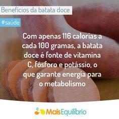 A batata doce é um ótimo alimento para quem pratica exercícios. Conheça alguns outros alimentos que podem te ajudar! http://maisequilibrio.terra.com.br/alimentos-indispensaveis-para-quem-pratica-atividade-fisica-2-1-1-671.html