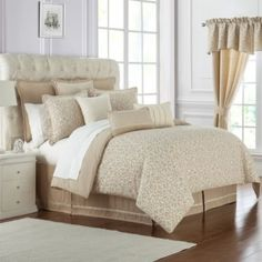 Comforter Sets & Down Comforters Bed Linens Luxury, Bed Linen Design, Bedding Collections, Gold Bedding Sets, Modern Bed Set, Bed, Bed Linen Sets, Bedding Sets, Home Decor