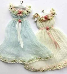 :: Crafty :: Doll :: Clothes :: Shabby Chic Dresses