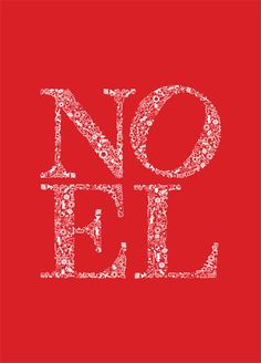 Graphic 'NOEL' Christmas cards £7 for 6  The letters are made from lots of little xmas pictures! :)